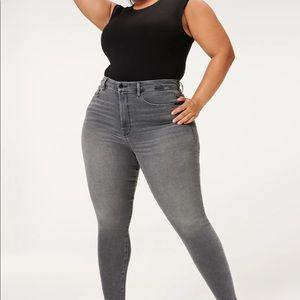 Good American Good Waist Grey jeans size 14 NWOT
